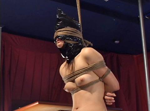 猿轡 口枷 をされる女 の 口拘束 AV エロ 画像 kase21_2