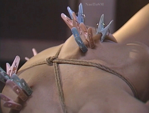 SM拷問調教 全身洗濯ばさみ責めされる女のAVエロ画像 asamayuuko35
