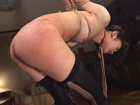 恐怖と激痛の鞭責め鞭打ち乱打SM調教女/胸鞭AVエロ画像shirase17