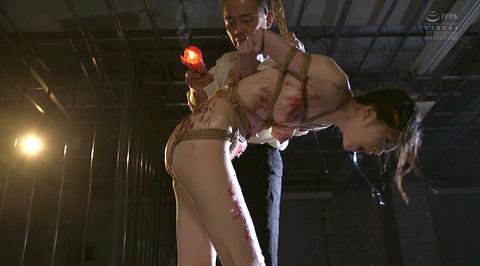 恐怖と激痛の鞭責め鞭打ち乱打SM調教女/胸鞭AVエロ画像arisaka02
