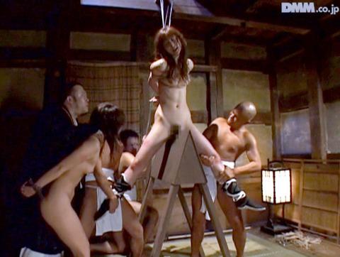 SM拷問調教 三角木馬 股間責めされる女のAVエロ画像 harachihiro341