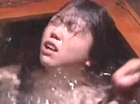 SM水責め調教/風呂場水責め拷問される女のエロAV画像kudouayami13