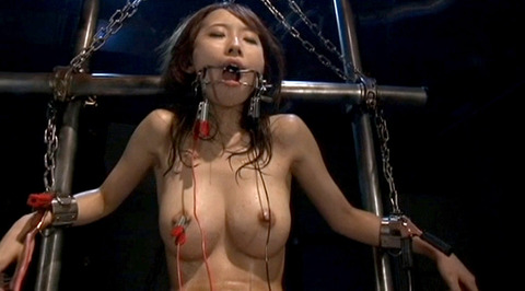 電流責め/電気責め鬼畜拷問SMされる女のエロAV画像misaki139