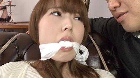 猿轡 口枷 をされる女 の 口拘束 AV エロ 画像 hatanoyui130
