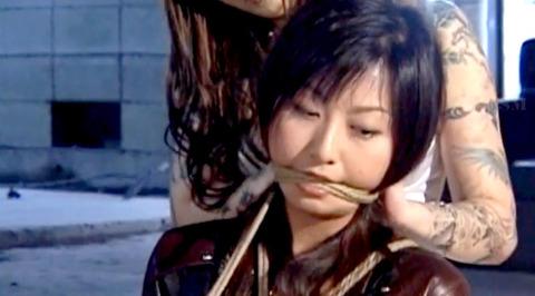 猿轡 口枷 をされる女 の 口拘束 AV エロ 画像 aokirei23