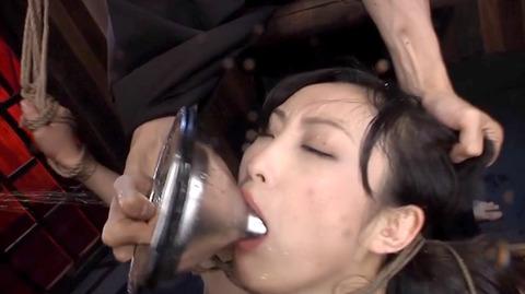 髪の毛を引っ張り上げられ SM拷問 一本鞭画像 神納花