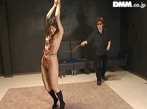 月神サラ SM調教 体に食い込む 残酷 一本鞭調教 一本鞭鞭打ち 17