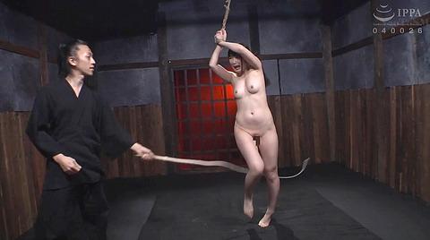 宮崎あや 残酷SM調教 一本鞭 吊られて一本鞭 拷問調教される女 57