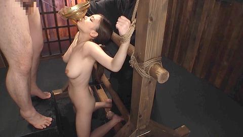 鶴田かな 一本鞭 強制飲尿 拷問SM調教エロAV画像 03