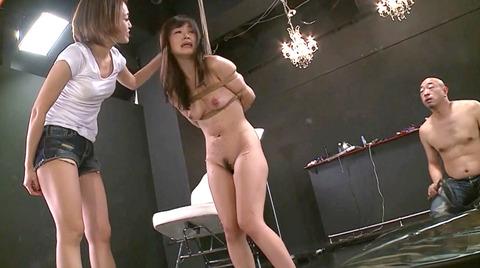 大槻ひびき ビンタ レズ 凌辱SM調教される女のエロ画像 73