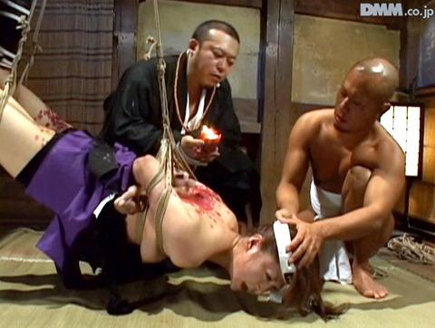 原千尋(愛咲れいら)SM拷問 逆さ吊り 調教 AV 画像 325