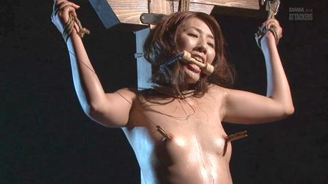 結城みさ 拷問ハードSM 残酷鞭打ち 拷問緊縛 逆さ吊り AVエロ画像 33