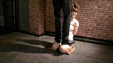 樹花凛 ビンタされる女 首吊り すのこ正座 拷問SMエロ画像 133