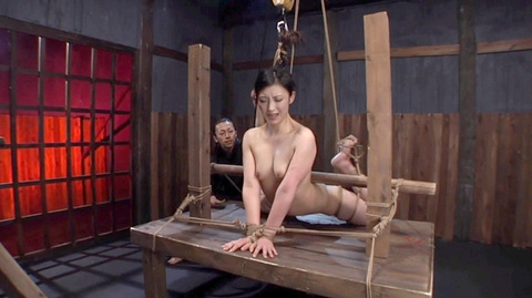 髪の毛を引っ張り上げられ SM拷問 一本鞭画像 神納花24