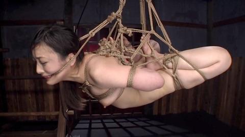 髪の毛を引っ張り上げられ SM拷問 一本鞭画像 神納花39