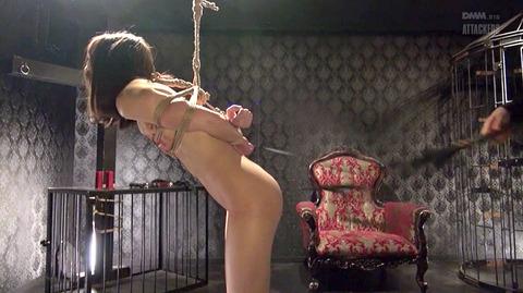 西田カリナ ビンタ 強烈鞭打ち 強制SM調教される女のエロAV画像 56