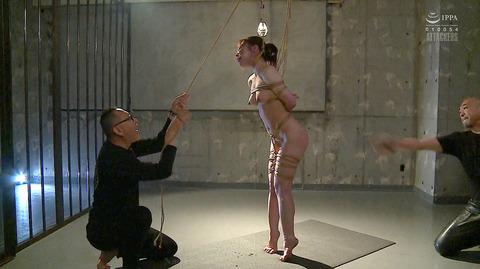 松ゆきの 胸鞭連打 首吊り 拷問 残酷SM調教される女のエロ画像 29