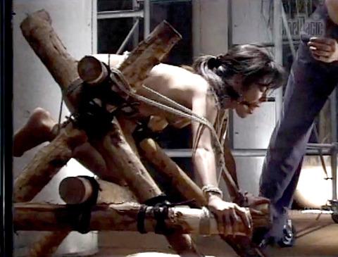 野口由香 鞭打ち 水責め 逆さ吊り SM調教画像 2000年代SMビデオ 18