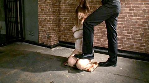 樹花凛 ビンタされる女 首吊り すのこ正座 拷問SMエロ画像 131