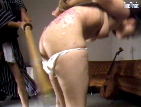加賀恵子 虐待SM 竹刀で打たれ 拷問される女の画像 43