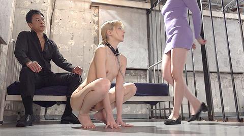 西田カリナ 強烈鞭打ち調教 足舐め 排泄管理される女AVエロ画像 177