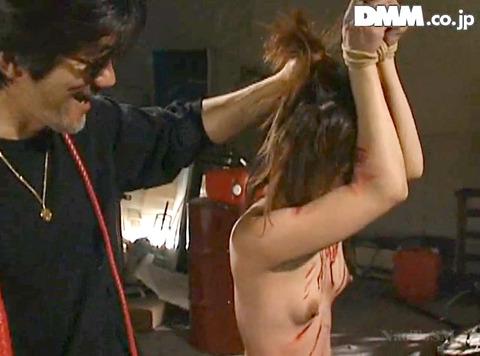 上原留華 残酷SM調教 一本鞭 片足逆さ吊り SM AVエロビデオ 07