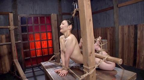 髪の毛を引っ張り上げられ SM拷問 一本鞭画像 神納花29