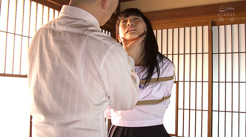 枢木あおい 緊縛されて髪の毛鷲掴みで引っ張られる女の画像 01