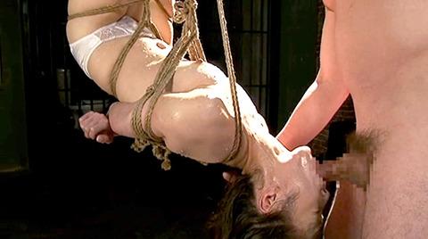 樹花凛=七咲楓花 逆さ吊り 水責め 拷問フェラチオ調教 エロ画像 161