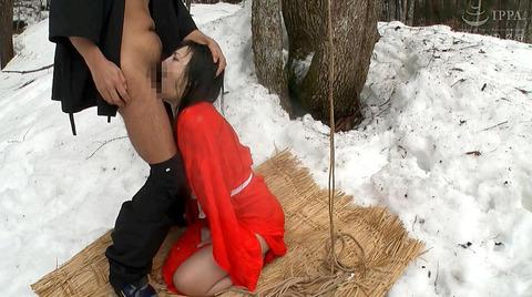 神納花 極寒 雪中SM調教 寒さ責めされる女83