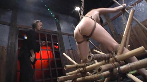 宮崎あや 残酷SM調教 一本鞭 吊られて一本鞭 拷問調教される女 39