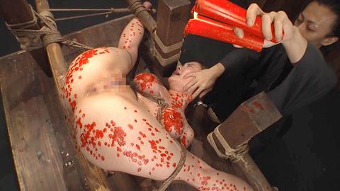 鶴田かな 一本鞭 強制飲尿 拷問SM調教エロAV画像 16