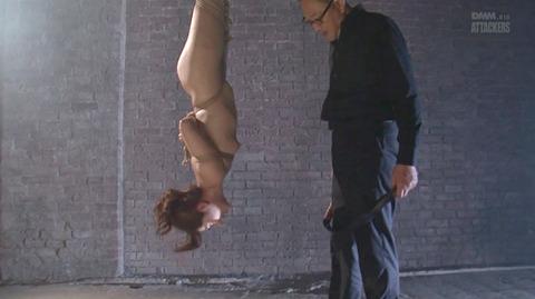 結城みさ 拷問ハードSM 残酷鞭打ち 拷問緊縛 逆さ吊り AVエロ画像 37