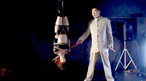 朝比奈ゆい 逆さ吊り 電流責め SM拷問調教される女の画像 03
