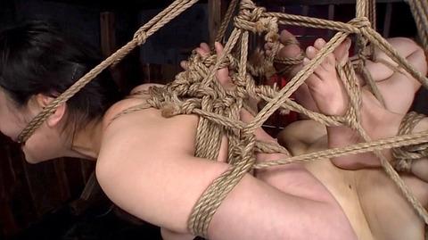 髪の毛を引っ張り上げられ SM拷問 一本鞭画像 神納花38