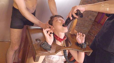 土屋かなで 残酷 喉ボコ イラマチオ ビンタ 奴隷 調教画像 42