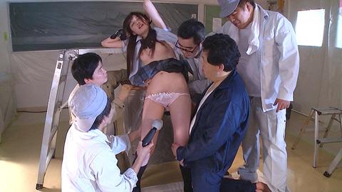 橋本ありな 集団強姦 強制フェラ奴隷 にされる女のAVエロ画像 48