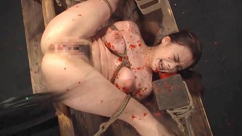 鶴田かな 一本鞭 強制飲尿 拷問SM調教エロAV画像 22