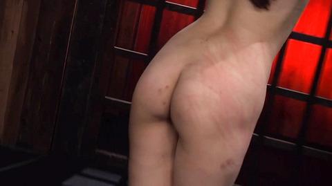 髪の毛を引っ張り上げられ SM拷問 一本鞭画像 神納花45