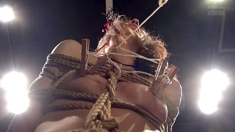 西田カリナ ビンタ 強烈鞭打ち 強制SM調教される女のエロAV画像 44