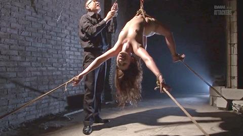 結城みさ 拷問ハードSM 残酷鞭打ち 拷問緊縛 逆さ吊り AVエロ画像 10