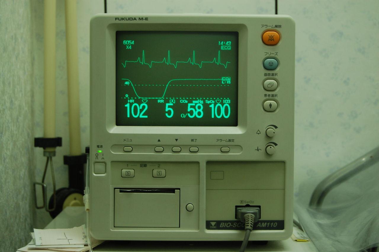 心電図、呼吸ガスモニターで麻酔を管理術者と助手で手術開始皮膚を切開し電気... 犬の避妊手術につ