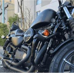 工藤静香、真っ黒の大型バイクを披露で驚きの声「ハーレー、渋すぎる」