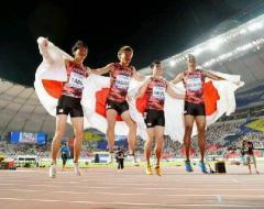 日本、男子400メートルリレーで銅メダル アジア新