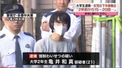 「小学生くらいの女の子がタイプ」家族で買い物中の女児の下半身触る 大学生逮捕