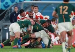 ラグビーW杯準々決勝 日本、南アフリカに3−26で敗れる…