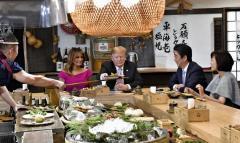 トランプ じゃがバターに「すばらしい夜だ」 非公式夕食会開催
