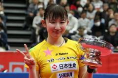 早田ひな、令和初の女王に 伊藤、石川の五輪代表連破