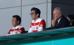「エキサイトしっぱなし」安倍首相、ラグビーワールドカップ開幕戦を観戦