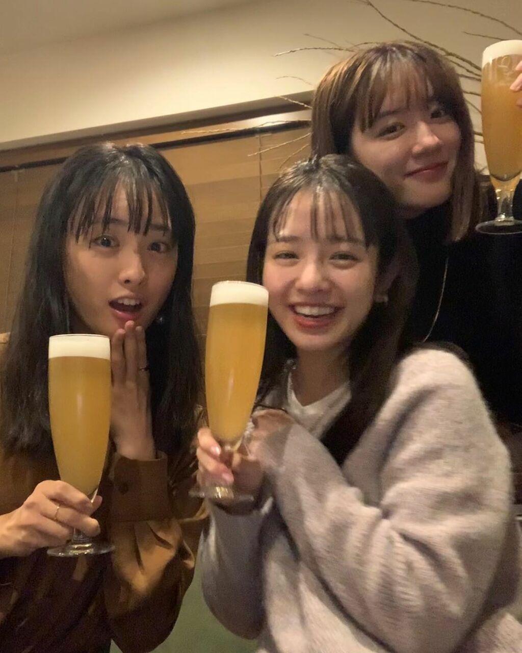 横田真悠・永野芽郁・大友花恋がそろって20歳 乾杯ショットに反響「最高すぎるこの3人組